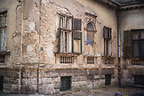 SERBIA, Belgrade, A crumbling building in Belgrade, Eastern Europe