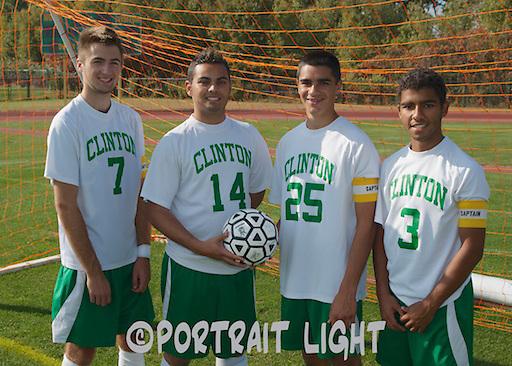 This year's Clinton High School boys soccer captains are (from left) junior Jeff Tetreault, senior Erick Barbosa, senior Anthony Innamorati and junior Felipe Bispo.