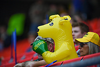 20190609 - VALENCIENNES , FRANCE : Australian fans and supporters pictured during the female soccer game between Australia – the Matildas - and Italy – Squadra Azzurrine - , the first game for both teams in group C during the FIFA Women's  World Championship in France 2019, Sunday 9 th June 2019 at the Stade du Hainaut Stadium in Valenciennes , France .  PHOTO SPORTPIX.BE | DAVID CATRY