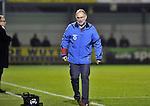 2015-10-31 /voetbal / seizoen 2015 - 2016 / Dessel Sport - KSK Heist / Coach Francis Bosschaerts (r) (Heist) is niet gerust in een goede afloop van de wedstrijd