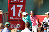 Thorbjorn Olesen (DEN) tees off the 17th tee during Sunday's Final Round of the 2013 Omega Dubai Desert Classic held at the Emirates Golf Club, Dubai, 3rd February 2013..Photo Eoin Clarke/www.golffile.ie