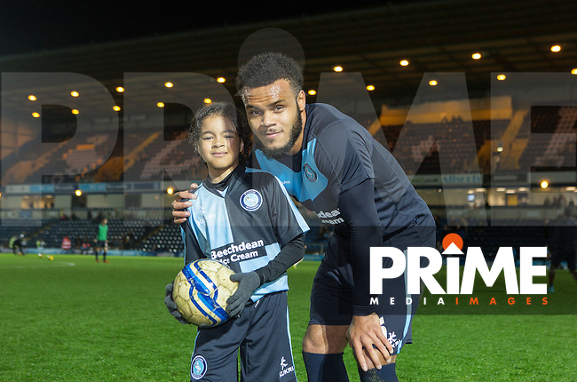 Match day Mascots during the Sky Bet League 2 match between Wycombe Wanderers and Notts County at Adams Park, High Wycombe, England on 15 December 2015. Photo by Andy Rowland.