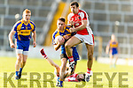 Adrian Spillane Kenmare in action against Aidan O'Mahony Rathmore in the Senior County Football Semi Final in Fitzgerald Stadium on Sunday.