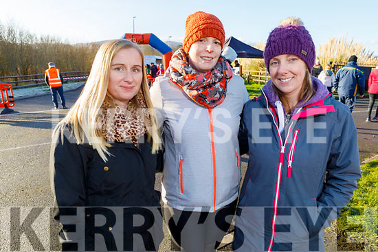 Clare Flaherty, Lorraine Goodall and Deirdra Young at the Operation Transformation for the National Walk Day in the Wetlands on Saturday.