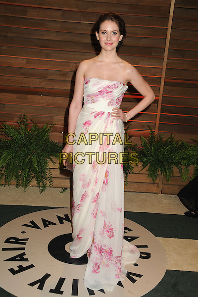 02 March 2014 - West Hollywood, California - Alison Brie. 2014 Vanity Fair Oscar Party following the 86th Academy Awards held at Sunset Plaza. <br /> CAP/ADM/BP<br /> &copy;Byron Purvis/AdMedia/Capital Pictures