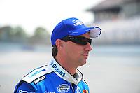 Apr 25, 2009; Talladega, AL, USA; NASCAR Nationwide Series driver David Reutimann prior to the Aarons 312 at the Talladega Superspeedway. Mandatory Credit: Mark J. Rebilas-