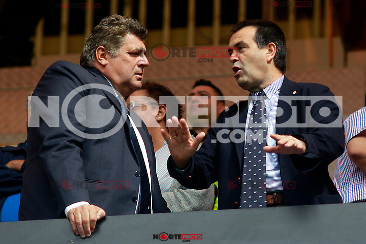 Real Sociedad's Vice Presidents Mikel Ubarretxena (l) and Aitor Diaz de Mendibil during La Liga match. September 10,2017. (ALTERPHOTOS/Acero) /NortePhoto.com