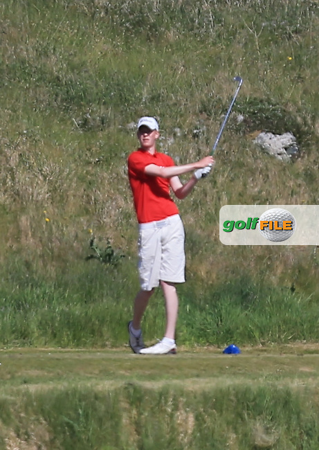 Evan Farrell (Ardee) on the 13th during the 1st round of the Irish Amateur Close Championship 2013 at the Connemara Golf Club Sat  8/6/13<br /> Picture:  Thos Caffrey / www.golffile.ie