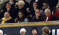 Pictured: Princess Kate and Prince William watching the game. Saturday 08 November 2014<br />