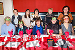 The staff of Booleenshere NS Ballyheigue enjoying their Christmas party in Cassidys on Friday.<br /> Seated l to r: Terrence Dineen, Joan McCann, Eileen Galway, Maria Donegan and Susan O'Gara.<br /> Back l to r: Joanne Blake, Emer McCarthy, Maureen O'Mahoney, Ann Sheehan and Miriam Casey.