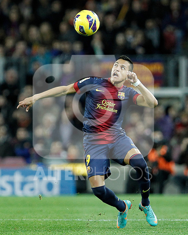 FC Barcelona's Alexis Sanchez during La Liga match.December 16,2012. (ALTERPHOTOS/Acero)