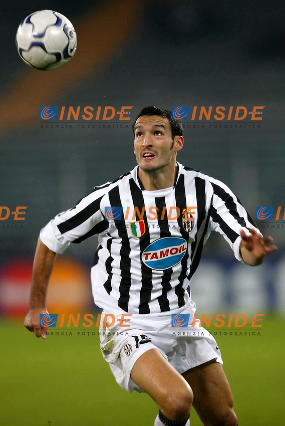 TORINO 21/10/2003<br /> CHAMPIONS' LEAGUE<br /> JUVENTUS-REAL SOCIEDAD 4-2<br /> Gianluca Zambrotta<br /> Foto Insidefoto