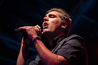 Charlie Simpson of Busted performing during AmpRocks 2017, part of Ampthill Festival, at Ampthill Great Park, Ampthill, England on 30 June 2017. Photo by David Horn.
