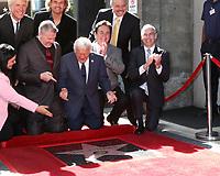 LOS ANGELES - FEB 24:  Rob Gulack, Tony Butala, Bobby Poynton, Mitch OFarrell at the The Lettermen Star Ceremony on the Hollywood Walk of Fame on February 24, 2019 in Los Angeles, CA