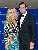 Candice Crawford and Dallas Cowboys quarterback Tony Romo arrive for the 2015 White House Correspondents Association Annual Dinner at the Washington Hilton Hotel on Saturday, April 25, 2015.<br /> Credit: Ron Sachs / CNP