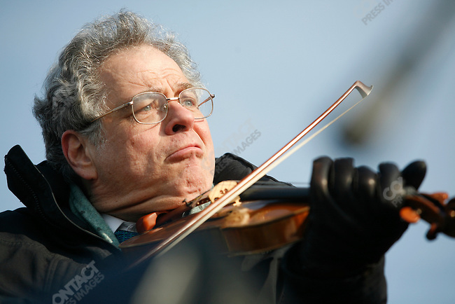 Inauguration of Barack Obama as the 44th President of the United States of America, Yitzok Perlman (violin) performs before the swearing in,Washington D.C., January 20, 2009