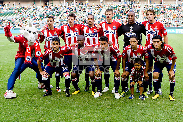 CD Chivas USA starting eleven. The LA Galaxy beat Chivas USA 2-1 at Home Depot Center stadium in Carson, California on Sunday October 3, 2010.