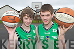 Declan Cahill Castleisland and Sean McCarthy who have been selected for the Irish squad to play in the u16 European basketball championships to be held in Fiera, Portugal in August