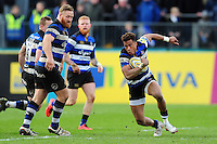 Anthony Watson of Bath Rugby in possession. Aviva Premiership match, between Bath Rugby and Wasps on March 4, 2017 at the Recreation Ground in Bath, England. Photo by: Patrick Khachfe / Onside Images