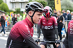 Chris Froome (GBR) Team Ineos before Stage 1 of the Criterium du Dauphine 2019, running 142km from Aurillac to Jussac, France. 9th June 2019<br /> Picture: Colin Flockton | Cyclefile<br /> All photos usage must carry mandatory copyright credit (© Cyclefile | Colin Flockton)