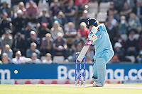 Joe Root (England) drives through the covers during England vs West Indies, ICC World Cup Cricket at the Hampshire Bowl on 14th June 2019