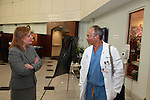 Assemblywoman Joann L. Downey and Assemblyman Eric J. Houghtaling visit Monmouth Medical Center in Long Branch, NJ on Friday April 8, 2016.  Photo By Bill Denver