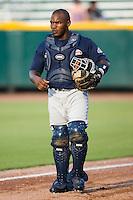 Catcher Angel Salome (26) of the Huntsville Stars at the Baseball Grounds in Jacksonville, FL, Thursday June 12, 2008.