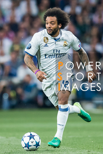 Marcelo Vieira Da Silva of Real Madrid in action during their 2016-17 UEFA Champions League Semifinals 1st leg match between Real Madrid and Atletico de Madrid at the Estadio Santiago Bernabeu on 02 May 2017 in Madrid, Spain. Photo by Diego Gonzalez Souto / Power Sport Images
