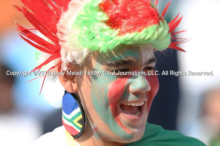 23 JUN 2010: An Algeria fan, pregame. The United States National Team played the Algeria National Team at Loftus Versfeld Stadium in Tshwane/Pretoria, South Africa in a 2010 FIFA World Cup Group C match.