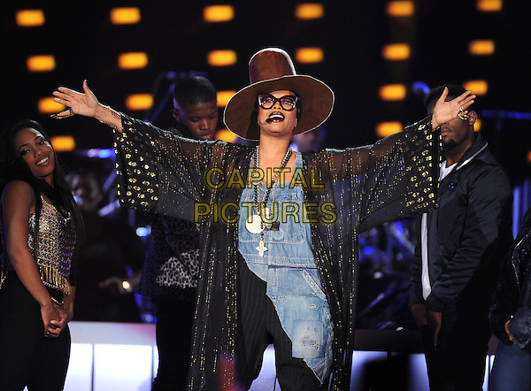 LAS VEGAS, NV - NOVEMBER 6: Erykah Badu hosts the 2015 Soul Train Awards at the Orleans Arena on November 6, 2015 in Las Vegas, Nevada.  <br /> CAP/MPI/PGFM<br /> &copy;PGFM/MPI/Capital Pictures