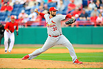 7 March 2012: St. Louis Cardinals pitcher Lance Lynn on the mound against the Washington Nationals at Space Coast Stadium in Viera, Florida. The teams battled to a 3-3 tie in Grapefruit League Spring Training action. Mandatory Credit: Ed Wolfstein Photo