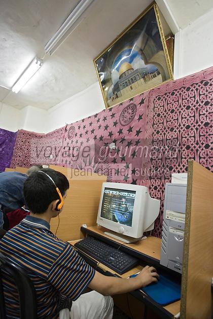 Asie/Israël/Judée/Jérusalem: Jeu en réseau dans un Cyber café de Jérusalem
