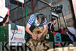 Breda Lynch from Bonane shearing at the Top of Coom on Sunday last.
