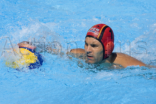 26 07 2009  Goalkeeper Alexander Tchigir ger Swimming World Cup in Rome  Waterpolo Eighth finals Germany vs Montenegro mens Waterpolo World Cup Rome .