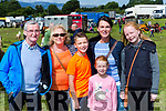 Michael and Joan Spillane, Ryan Carey, Catriona Spillane, Molly and Lucey Carey Listry at Puck Fair on Thursday