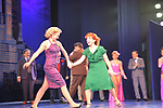 "Curtain Call - Guiding Light's Laura Bell Bundy ""Trixie Norton"" and Leslie Kritzer ""Alice Kramden"" star]s in The Honeymooners as ""Trixie "" Norton"" and on October 8, 2017 was opening night at the Paper Mill Playhouse in Millburn, NJ. Her husband (newly married in June 2017) to Thom Hinkle attended.  (Photo by Sue Coflin/Max Photos)"
