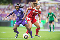Orlando, FL - Saturday April 22, 2017: Chioma Ubogagu, Shelina Zadorsky during a regular season National Women's Soccer League (NWSL) match between the Orlando Pride and the Washington Spirit at Orlando City Stadium.