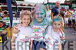 Hazel O'Sullivan, Shona Harris and Laura O'Sullivan from Ardfert enjoying the colour run in Killarney on Sunday.