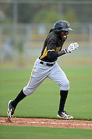 Pittsburgh Pirates outfielder Eric Thomas (7) during an Instructional League game against the Tampa Bay Rays on September 27, 2014 at the Charlotte Sports Park in Port Charlotte, Florida.  (Mike Janes/Four Seam Images)