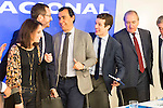 Andrea Levy, Fernando Martinez Maillo and Pablo Casado during the meeting with the national executive committee of Partido Popular at Genova in Madrid. May 03, 2016. (ALTERPHOTOS/Borja B.Hojas)