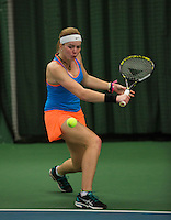 Rotterdam, The Netherlands, 15.03.2014. NOJK 14 and 18 years ,National Indoor Juniors Championships of 2014, Claire Verwerda (NED)<br /> Photo:Tennisimages/Henk Koster