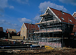 A912TE New private housing estate being constructed Rendlesham Suffolk England