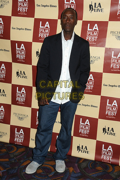"""Don Cheadle.2011 Los Angeles Film Festival Premiere of """"The Guard"""" held at Regal Cinemas L.A. Live, Los Angeles, California, USA, 22nd June 2011..full length untucked blazer jeans  white shirt  black jacket .CAP/ADM/BP.©Byron Purvis/AdMedia/Capital Pictures."""