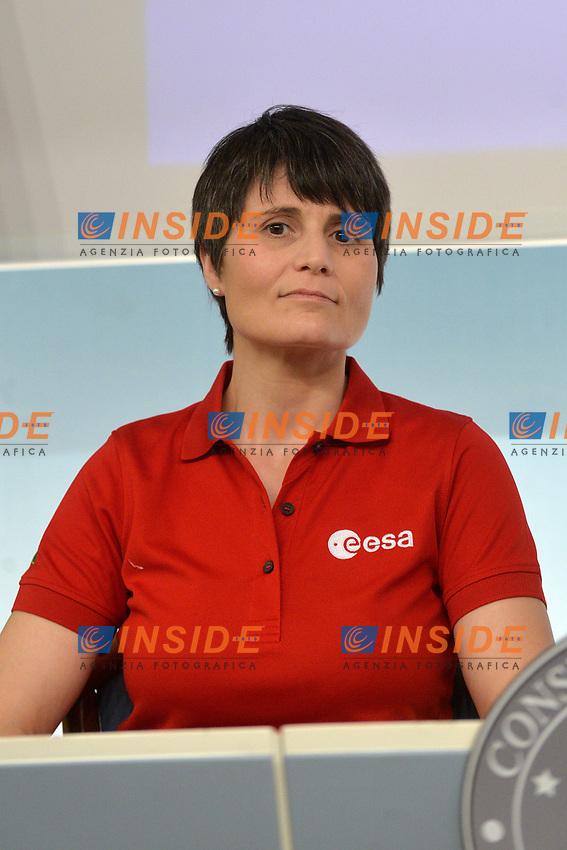 Astronaut Samantha Cristoforetti<br /> Rome November 21st 2019. Palazzo Chigi. Press conference for International Day for the Elimination of Violence against Women<br /> Foto  Samantha Zucchi Insidefoto