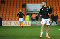 Blackpool's Jay Spearing during the pre-match warm-up <br /> <br /> Photographer Kevin Barnes/CameraSport<br /> <br /> Emirates FA Cup Third Round Replay - Blackpool v Reading - Tuesday 14th January 2020 - Bloomfield Road - Blackpool<br />  <br /> World Copyright © 2020 CameraSport. All rights reserved. 43 Linden Ave. Countesthorpe. Leicester. England. LE8 5PG - Tel: +44 (0) 116 277 4147 - admin@camerasport.com - www.camerasport.com