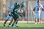 Redondo Beach, CA 05/11/10 - Zack Fixen (PV # 11) and Conor Murphy (MC # 4) in action during the 2010 Los Angeles Boys Lacrosse championship game, Mira Costa defeated Palos Verdes 12-10 at Redondo Union High School.