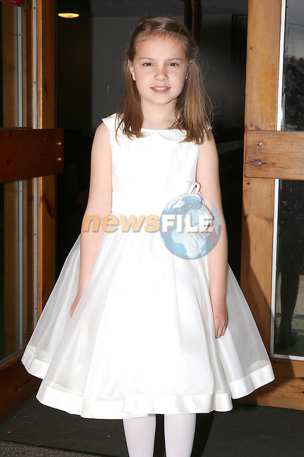 Anna Hanratty pictured at her first communion day in Julianstown.