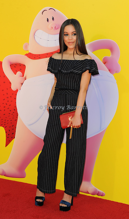Jenna Ortega arriving at the Los Angeles premiere of Captain Underpants, held at the Regency Village Theater in Westwood California on May 21, 2017