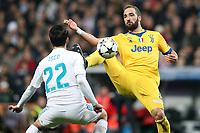 Real Madrid's Isco Alarcon (l) and Juventus Football Club's Gonzalo Higuain during Champions League Quarter-Finals 2nd leg match. April 11,2018. (ALTERPHOTOS/Acero) /NortePhoto.com