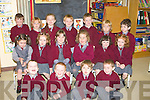 ROLL CALL: Answering their names were the first day pupils of Coolard NS Listowel on Thursday.... ....